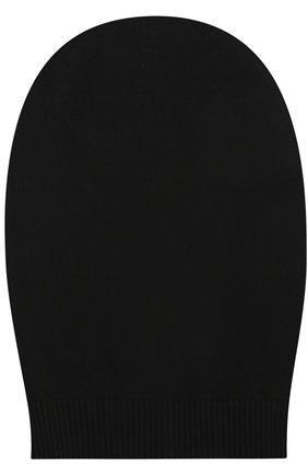 Хлопковая шапка бини Rick Owens черного цвета | Фото №1
