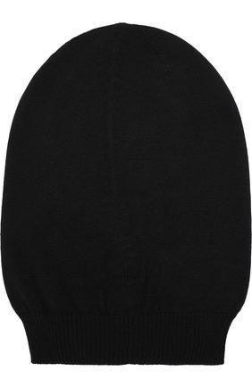Шерстяная шапка бини Rick Owens черного цвета | Фото №1