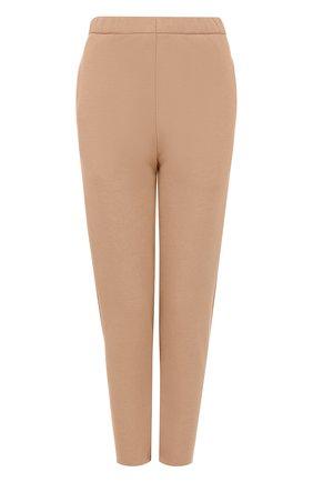 Шерстяные однотонные брюки с карманами | Фото №1