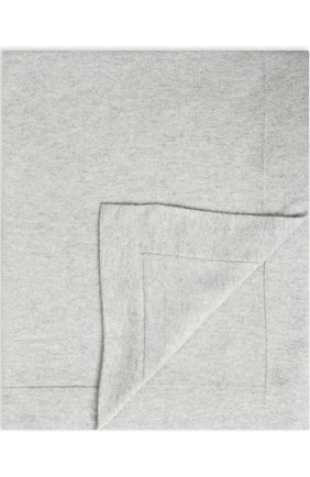 Одеяло из шерсти и кашемира Baby T светло-серого цвета | Фото №1