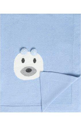 Одеяло из шерсти и кашемира Baby T голубого цвета | Фото №1