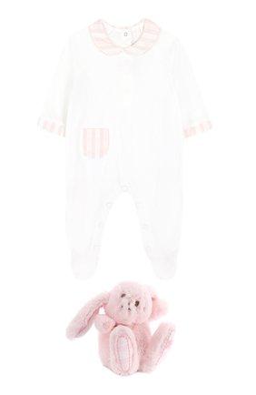 Детского комплект из пижамы и игрушки TARTINE ET CHOCOLAT розового цвета, арт. TK99041 | Фото 1
