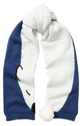 Кашемировый шарф с помпоном | Фото №1