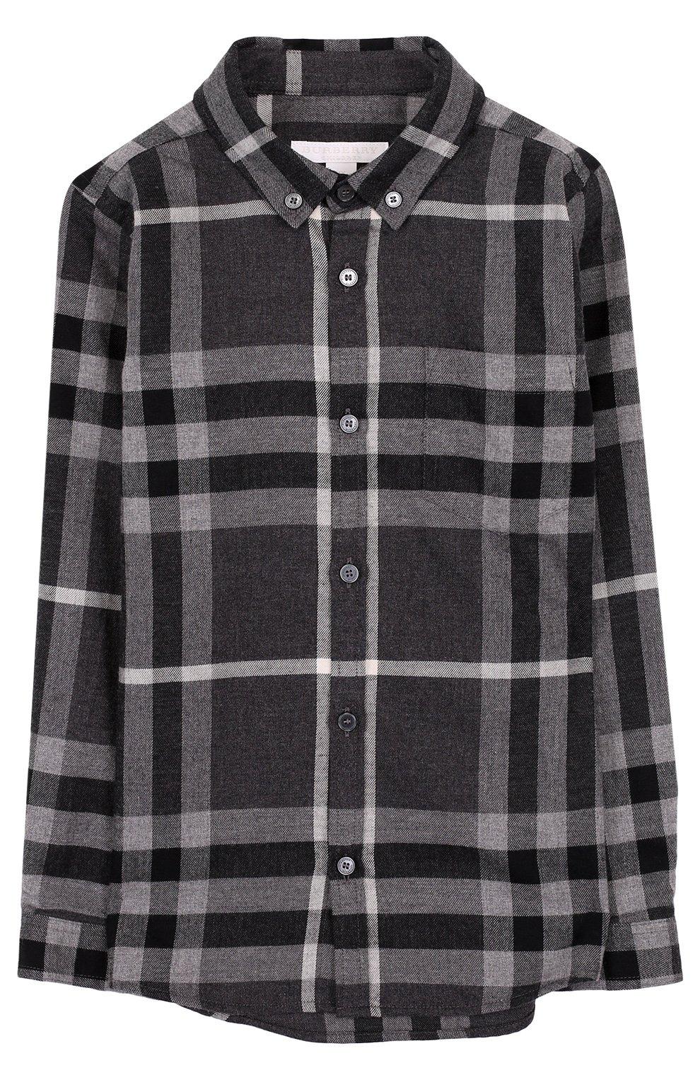Хлопковая рубашка с принтом и воротником button down | Фото №1