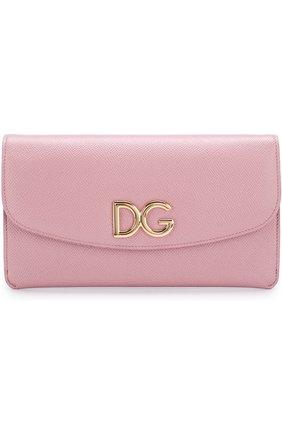 Женские набор из кожаного портмоне и футляров DOLCE & GABBANA розового цвета, арт. BI0977/AH362 | Фото 1