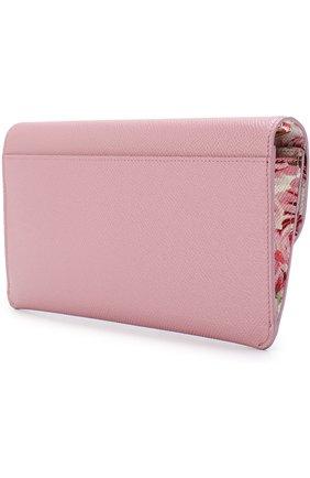 Женские набор из кожаного портмоне и футляров DOLCE & GABBANA розового цвета, арт. BI0977/AH362 | Фото 2