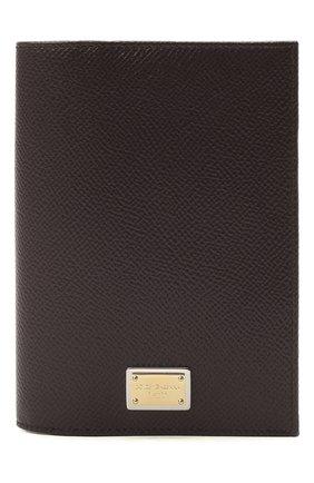 Женские кожаная обложка для паспорта DOLCE & GABBANA бордового цвета, арт. BI2215/A1001 | Фото 1