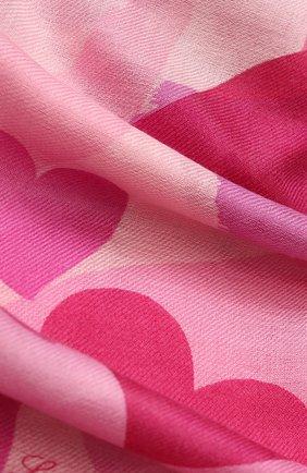 Женская палантин love story из смеси кашемира и шелка с принтом LORO PIANA розового цвета, арт. FAI1010 | Фото 2