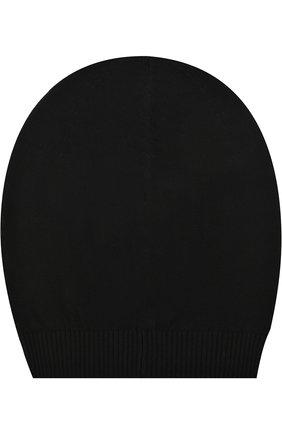 Шерстяная вязаная шапка бини Rick Owens черного цвета | Фото №1