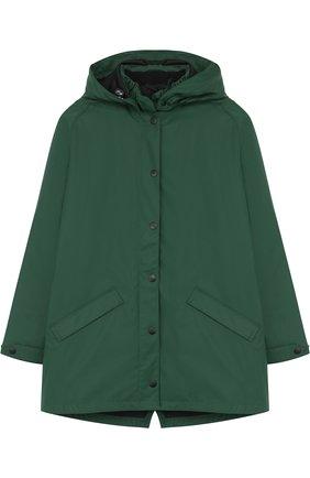 Куртка с капюшоном и подстежкой Gosoaky темно-зеленого цвета | Фото №1