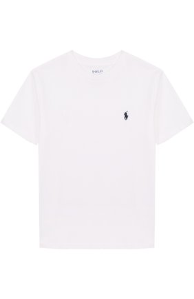 Хлопковая футболка с логотипом бренда | Фото №1