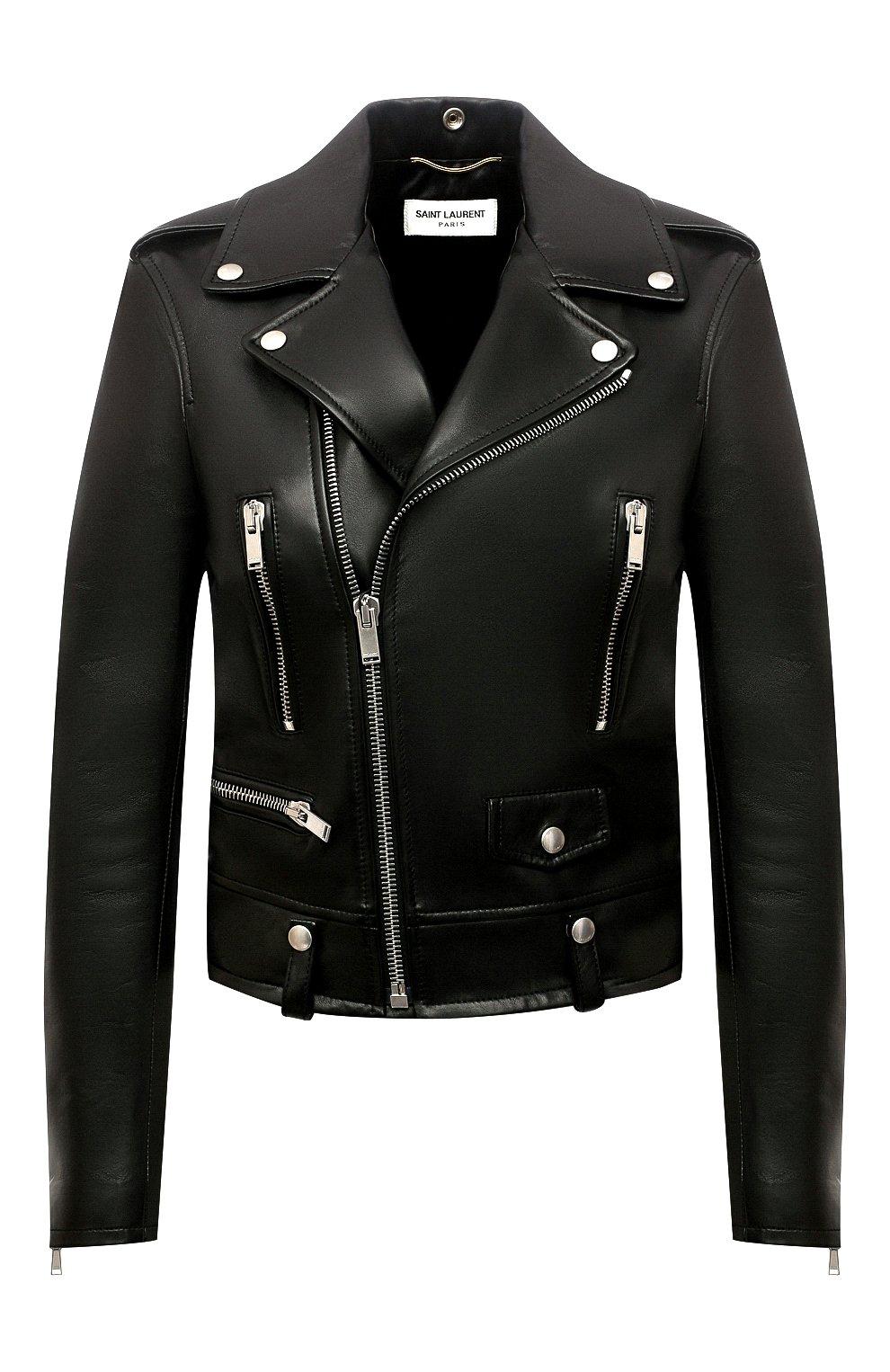 Женская кожаная куртка SAINT LAURENT черного цвета, арт. 481862/Y5YA2 | Фото 1
