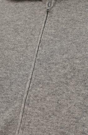 Кашемировый кардиган на молнии с капюшоном   Фото №3