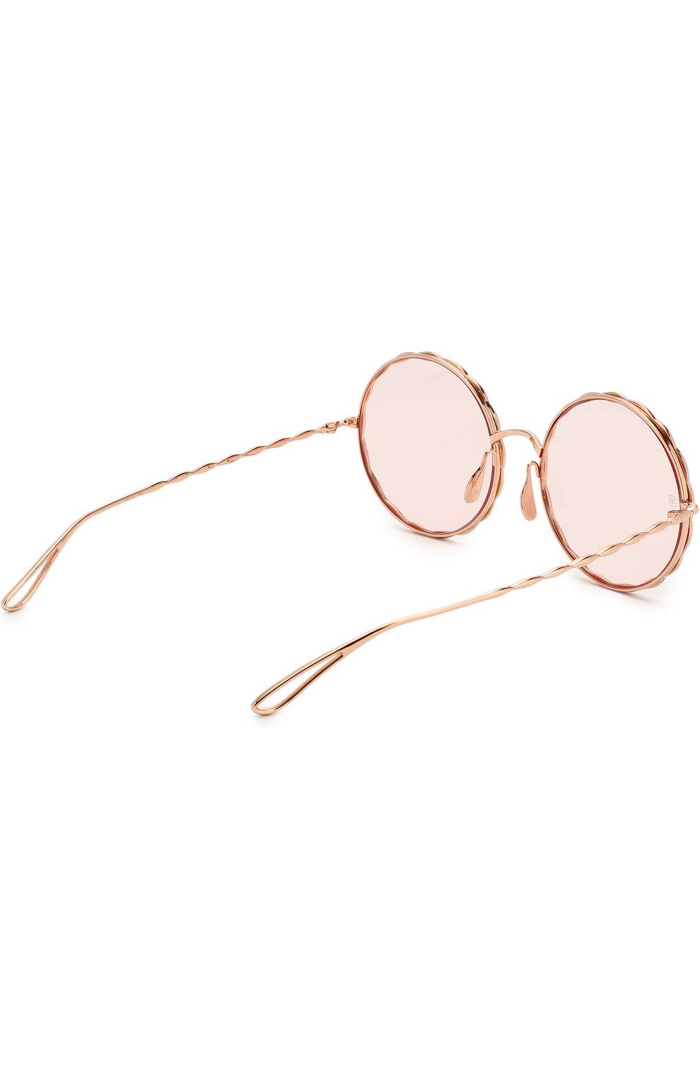 Солнцезащитные очки Elie Saab золотые   Фото №3