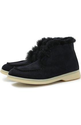Замшевые ботинки с внутренней меховой отделкой | Фото №1