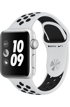 Смарт-часы Apple Watch Nike+ (GPS) 38mm Silver Aluminium Case with Pure Platinum/Black Sport Band | Фото №1