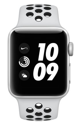 Смарт-часы Apple Watch Nike+ (GPS) 38mm Silver Aluminium Case with Pure Platinum/Black Sport Band | Фото №2