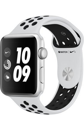 Смарт-часы Apple Watch Nike+ (GPS) 42mm Silver Aluminium Case with Pure Platinum/Black Sport Band | Фото №1