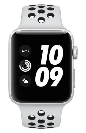 Смарт-часы Apple Watch Nike+ (GPS) 42mm Silver Aluminium Case with Pure Platinum/Black Sport Band | Фото №2