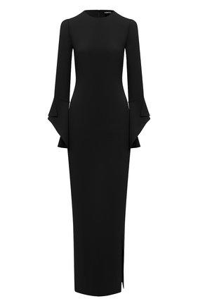 Женское шелковое платье TOM FORD черного цвета, арт. AB2115-FAX230 | Фото 1