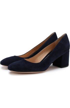 Замшевые туфли Gilda на устойчивом каблуке | Фото №1