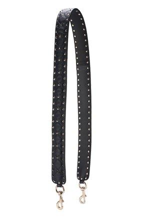 Женские кожаный ремень для сумки valentino garavani rockstud spike VALENTINO темно-синего цвета, арт. PW2P0P37/NAP | Фото 1