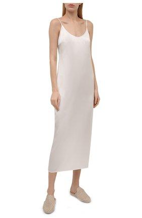 Женская шелковая сорочка LA PERLA кремвого цвета, арт. 0020292   Фото 2