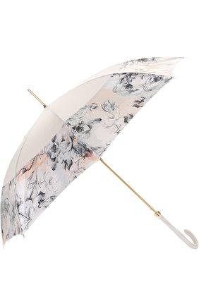 Зонт-трость Pasotti Ombrelli кремовый | Фото №2