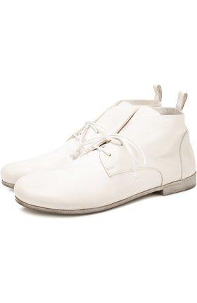 Кожаные ботинки с эффектом состаривания   Фото №1