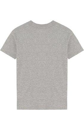 Детская хлопковая футболка POLO RALPH LAUREN серого цвета, арт. 322674984 | Фото 2