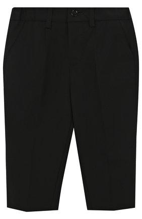 Детские шерстяные брюки DOLCE & GABBANA черного цвета, арт. L11P03/FUBBG | Фото 1