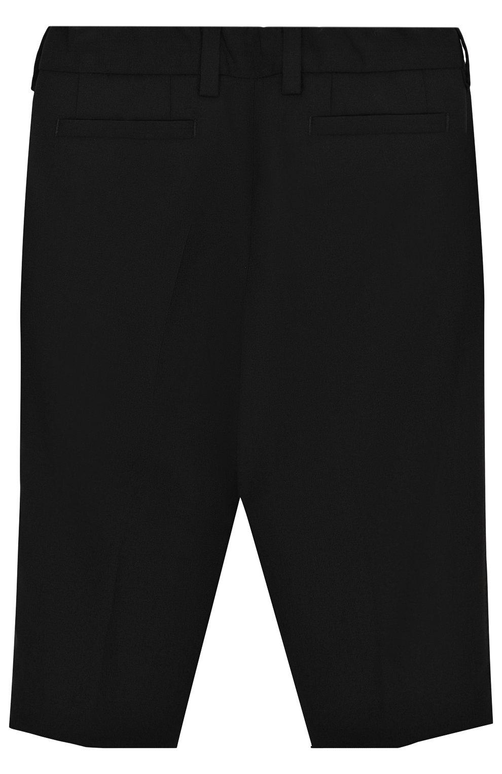 Детские шерстяные брюки DOLCE & GABBANA черного цвета, арт. L11P03/FUBBG | Фото 2