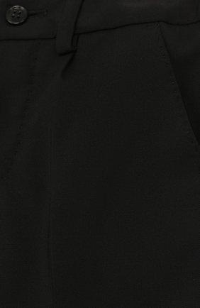 Детские шерстяные брюки DOLCE & GABBANA черного цвета, арт. L11P03/FUBBG | Фото 3