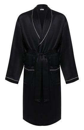 Мужской шелковый халат ZIMMERLI темно-синего цвета, арт. ZN-37 | Фото 1