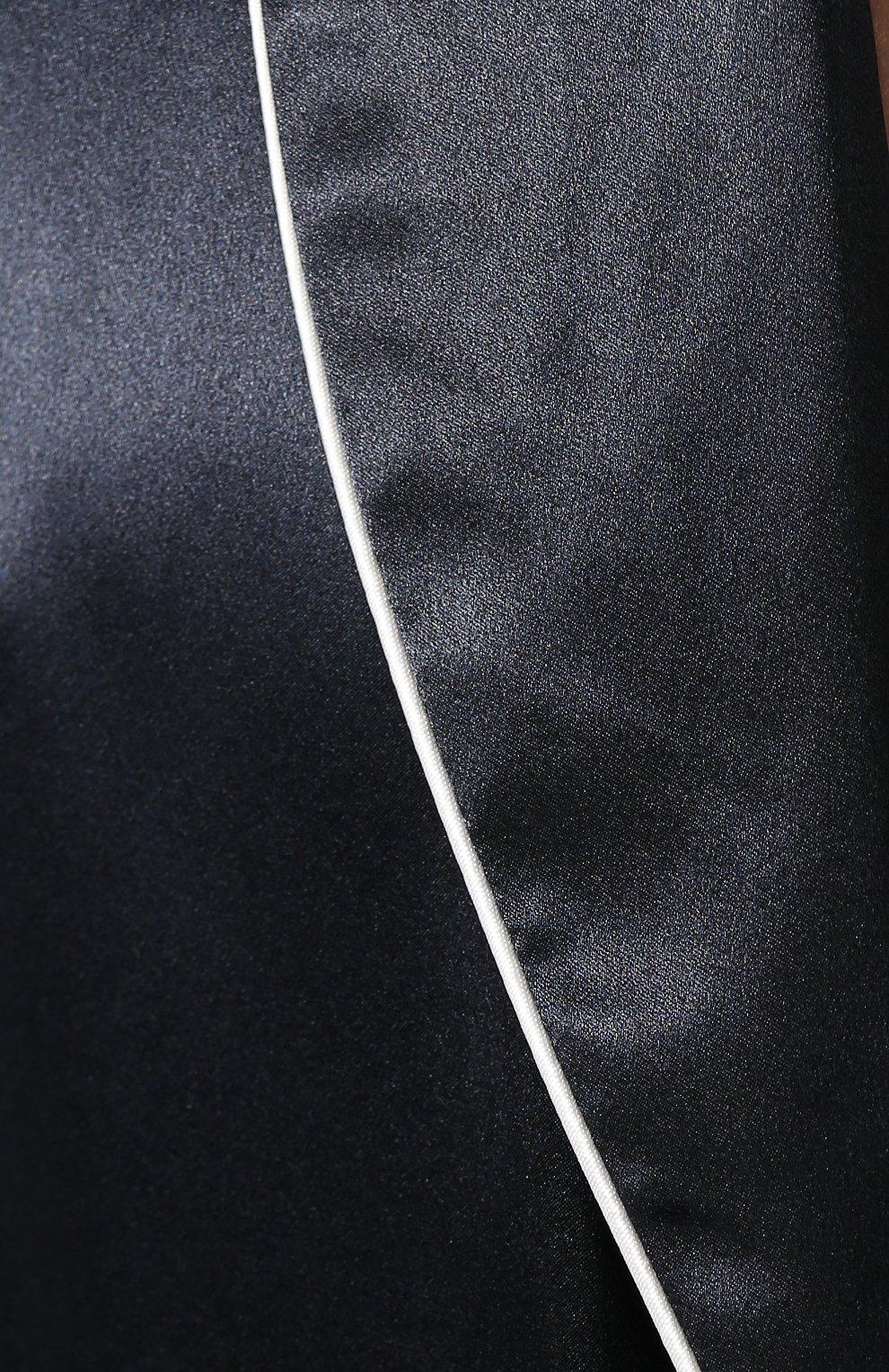 Мужской шелковый халат ZIMMERLI темно-синего цвета, арт. ZN-37   Фото 5 (Материал внешний: Шелк; Рукава: Длинные; Кросс-КТ: домашняя одежда; Длина (верхняя одежда): Длинные; Статус проверки: Проверена категория)