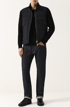 Мужские джинсы прямого кроя TOM FORD темно-синего цвета, арт. BLJ11TFD002 | Фото 2