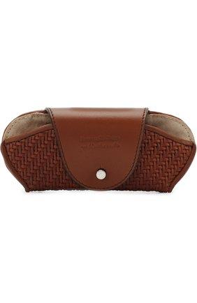 Мужской кожаный футляр для очков ERMENEGILDO ZEGNA коричневого цвета, арт. E1229P-PSM | Фото 1