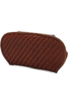 Мужской кожаный футляр для очков ERMENEGILDO ZEGNA коричневого цвета, арт. E1229P-PSM | Фото 2