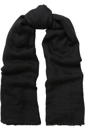 Шарф из смеси хлопка и кашемира с шелком Rick Owens черный | Фото №1