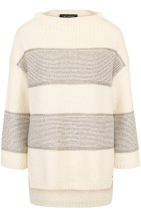 Пуловер из смеси кашемира и шерсти и укороченным рукавом | Фото №1