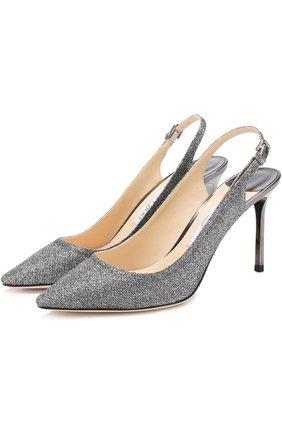 Туфли Erin 85 из металлизированного текстиля на шпильке | Фото №1