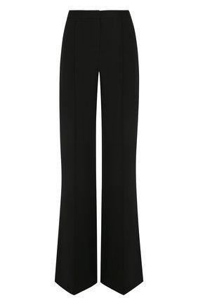 Однотонные расклешенные брюки со стрелками   Фото №1