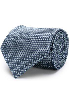 Мужской шелковый галстук BRIONI зеленого цвета, арт. 063I00/P7467 | Фото 1