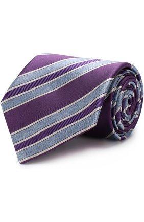 Мужской шелковый галстук BRIONI фиолетового цвета, арт. 063I00/P7493   Фото 1