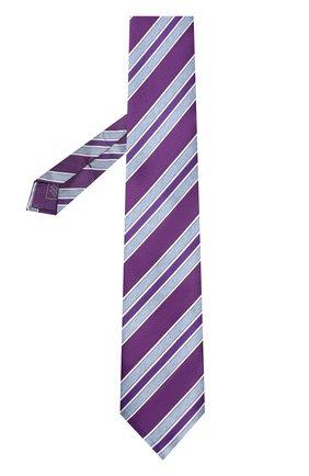 Мужской шелковый галстук BRIONI фиолетового цвета, арт. 063I00/P7493   Фото 2