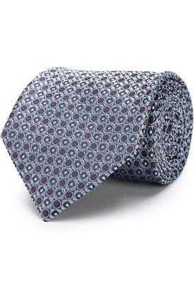 Мужской шелковый галстук BRIONI бирюзового цвета, арт. 062H00/P7417 | Фото 1