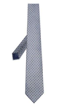 Мужской шелковый галстук BRIONI бирюзового цвета, арт. 062H00/P7417 | Фото 2