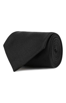Мужской шелковый галстук BRIONI черного цвета, арт. 062I00/P446Z | Фото 1