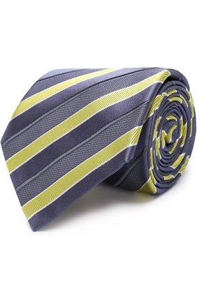 Мужской шелковый галстук BRIONI желтого цвета, арт. 062I00/P7469 | Фото 1 (Статус проверки: Проверено; Материал: Текстиль; Принт: С принтом)