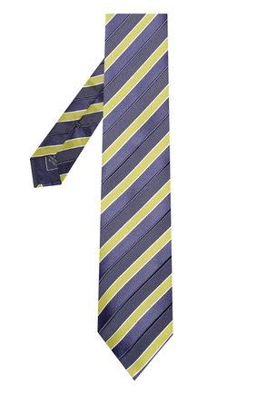 Мужской шелковый галстук BRIONI желтого цвета, арт. 062I00/P7469 | Фото 2 (Статус проверки: Проверено; Материал: Текстиль; Принт: С принтом)